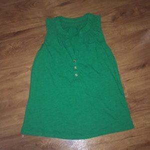 Sleeveless cotton Elsa sample Lilly pulitzer green